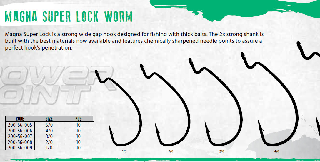 Offset Texas rig worm hooks for soft plastics 00058