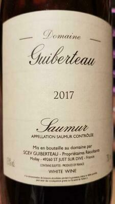 2017 Guiberteau Chenin Blanc