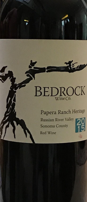 2015 Bedrock Wine Co. Papera Ranch Heritage