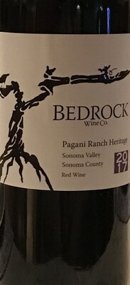 2017 Bedrock Wine Co. Pagani Ranch Vineyard