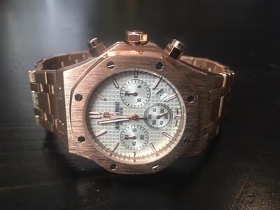 Audemars Piguet watch mens quartz chronograph , кварцевые мужские часы хронограф