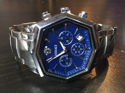 Versace watch mens quartz chronograph