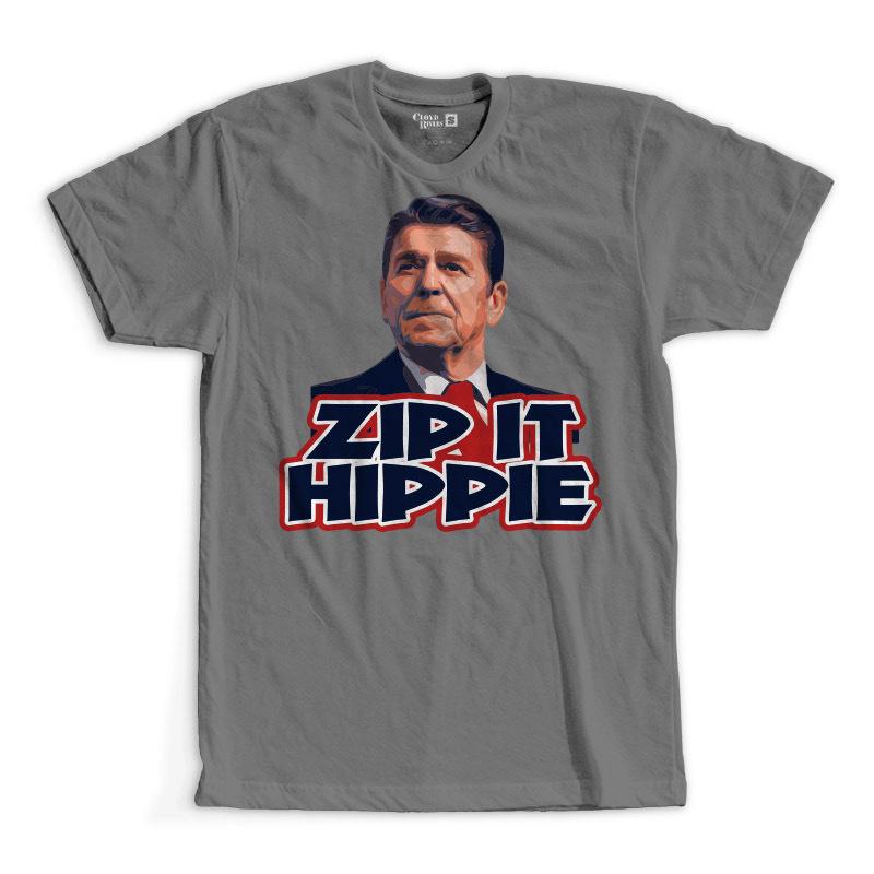 T-Shirt - Zip It Hippie
