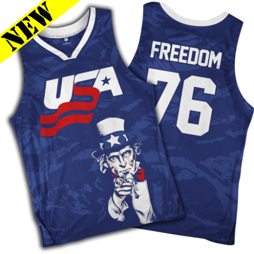 0fcded21674 GH Basketball Jersey - Freedom #76