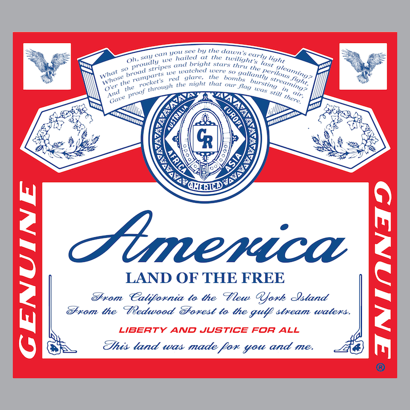 T-Shirt - America. Land of the Free