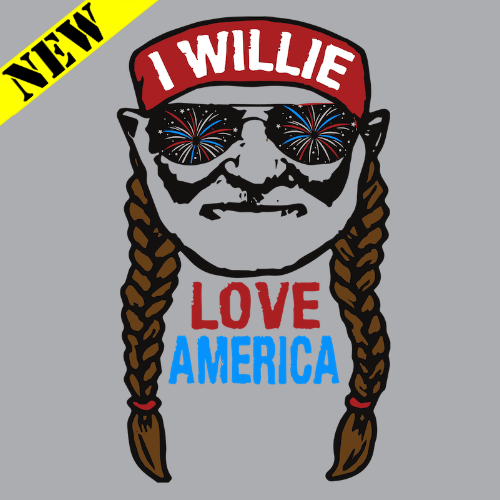 T-Shirt - Willie Love America PB-SV-680640CR