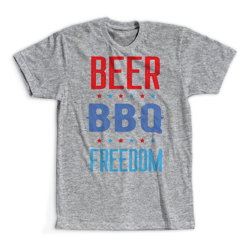 T-Shirt - Beer. BBQ. Freedom.