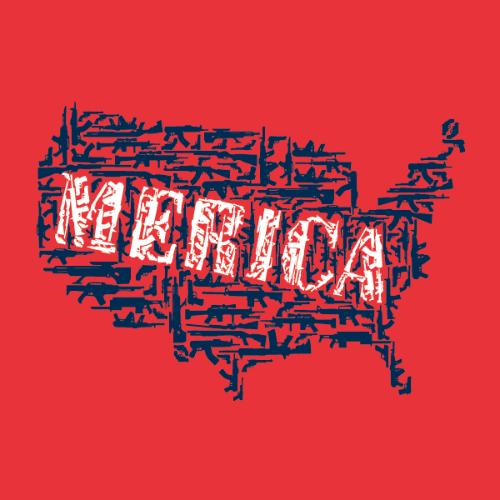 T-Shirt - Merican Gun Map 00053
