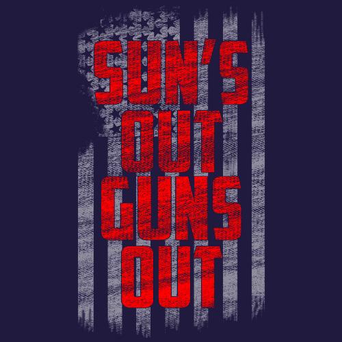 Tank Top - Sun's Out, Guns Out (Navy) 00189