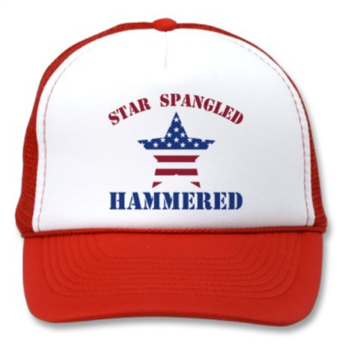 Winter Clearance Hat - Star Spangled Hammered (Red) 00268
