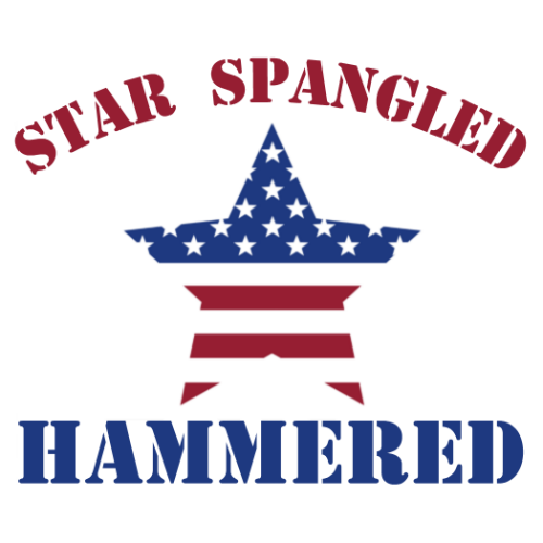 Winter Clearance Hat - Star Spangled Hammered (Red)