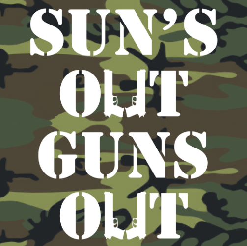 Winter Clearance Tank - Sun's Out, Guns Out (Camo)