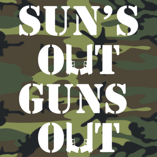 Winter Clearance Tank - Sun's Out, Guns Out (Camo) 00277