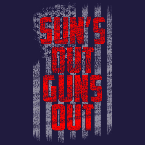 Winter Clearance Tank - Sun's Out, Guns Out (Navy) 00284