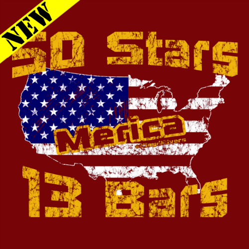 Winter Clearance Hoodie - Stars and Bars 00298