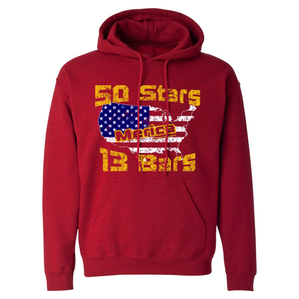 Winter Clearance Hoodie - Stars and Bars