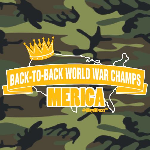 Winter Clearance T-Shirt - World War Champs (Camo) 00304