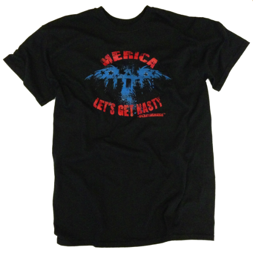 Winter Clearance T-Shirt - Merica. Let's Get Nasty (Black)