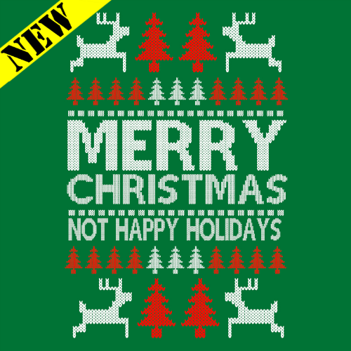 T-Shirt - Christmas Sweater - Not Happy Holidays PB-SV-267947CR