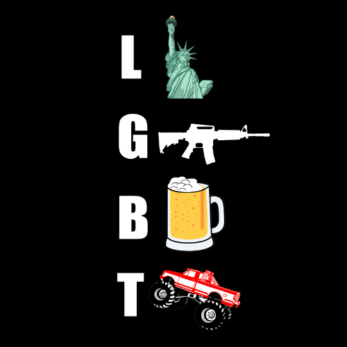 T-Shirt - Liberty, Guns, Beer, Trucks 01243