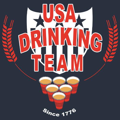 T-Shirt - USA Drinking Team 01122