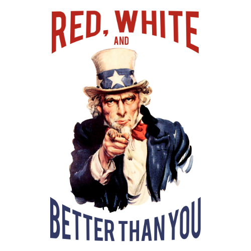 T-Shirt - Red, White and Better Than You 00444