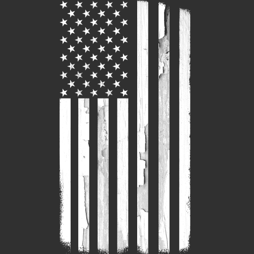 T-Shirt - Monochrome Flag 00662