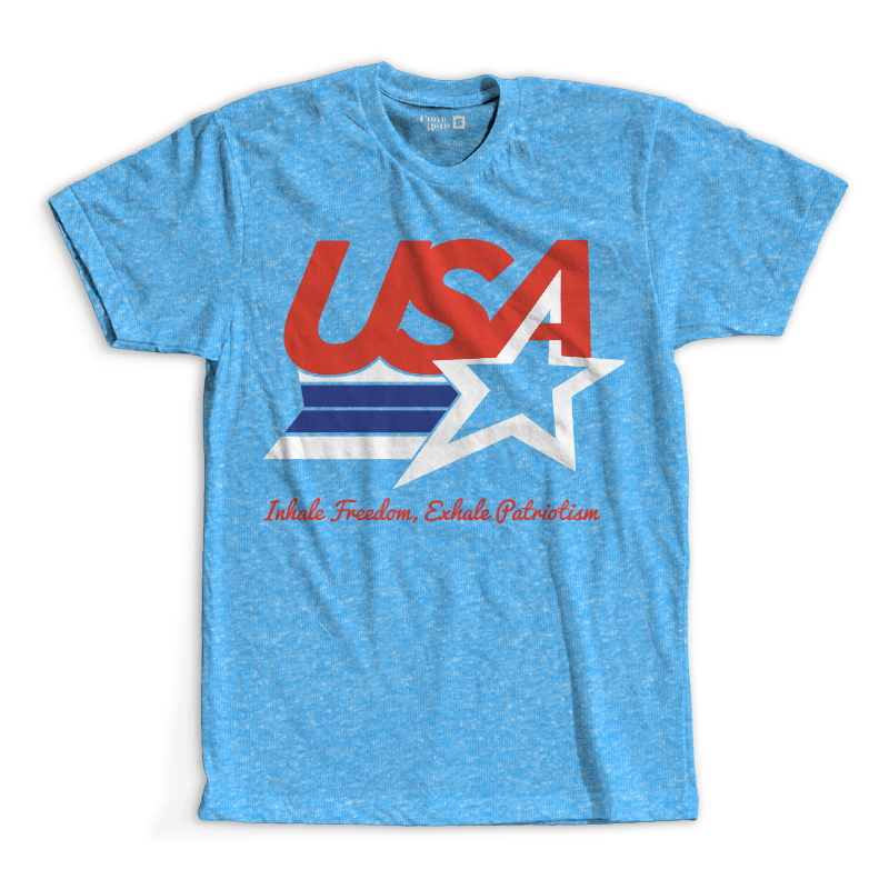 T-Shirt - Inhale Freedom, Exhale Patriotism