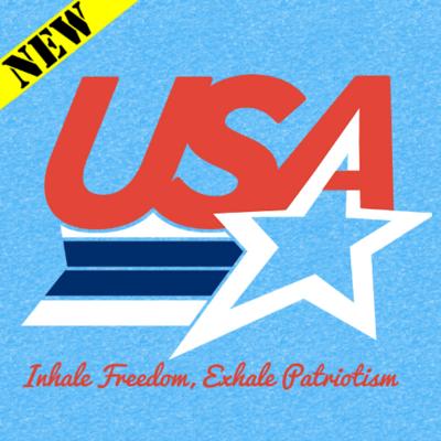 T-Shirt - Inhale Freedom, Exhale Patriotism