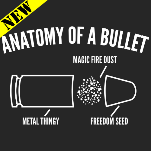 T-Shirt - Anatomy of A Bullet 14544