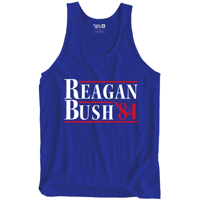 Tank Top - Reagan Bush '84 (Royal)
