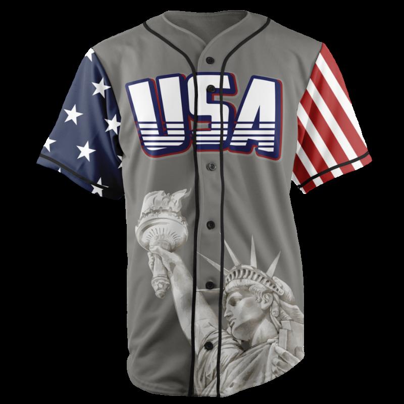 GH Baseball Jersey - USA #1 (Grey)