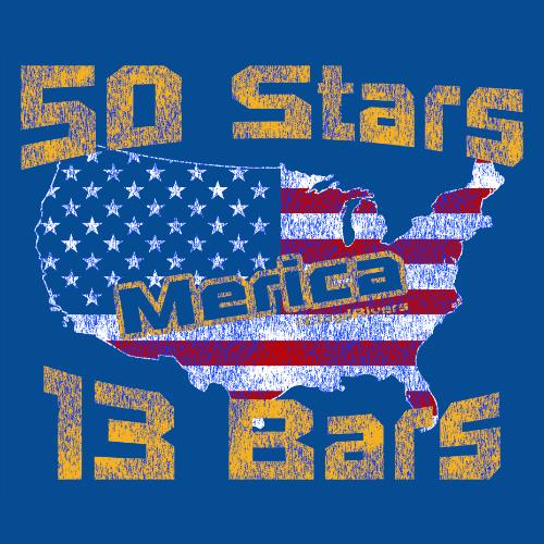Tank Top - Merica. 50 Stars & 13 Bars