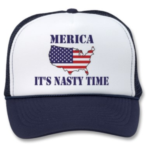 Winter Clearance Hat - Merica. It's Nasty Time (Navy)