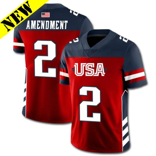 GH Football Jersey - USA #2 FB-2ARB-1CR