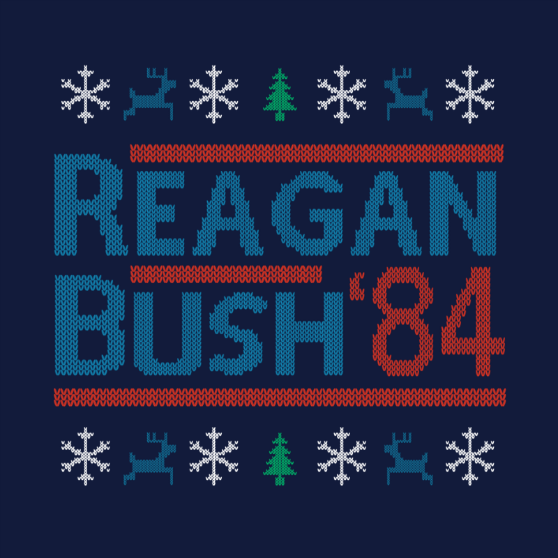 T-Shirt - Christmas Sweater - Reagan Bush '84