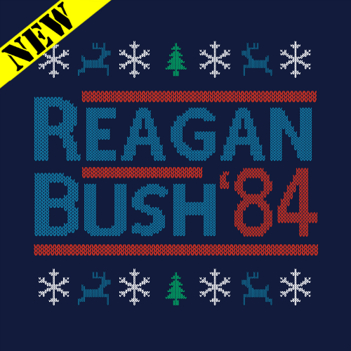 T-Shirt - Christmas Sweater - Reagan Bush '84 PB-SV-267986CR