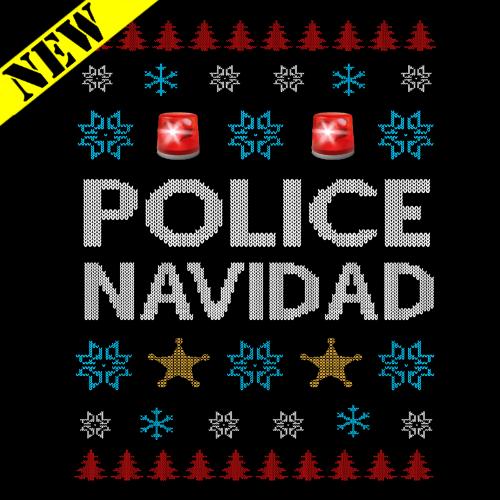 T-Shirt - Christmas Sweater - Police Navidad PB-SV-277226CR