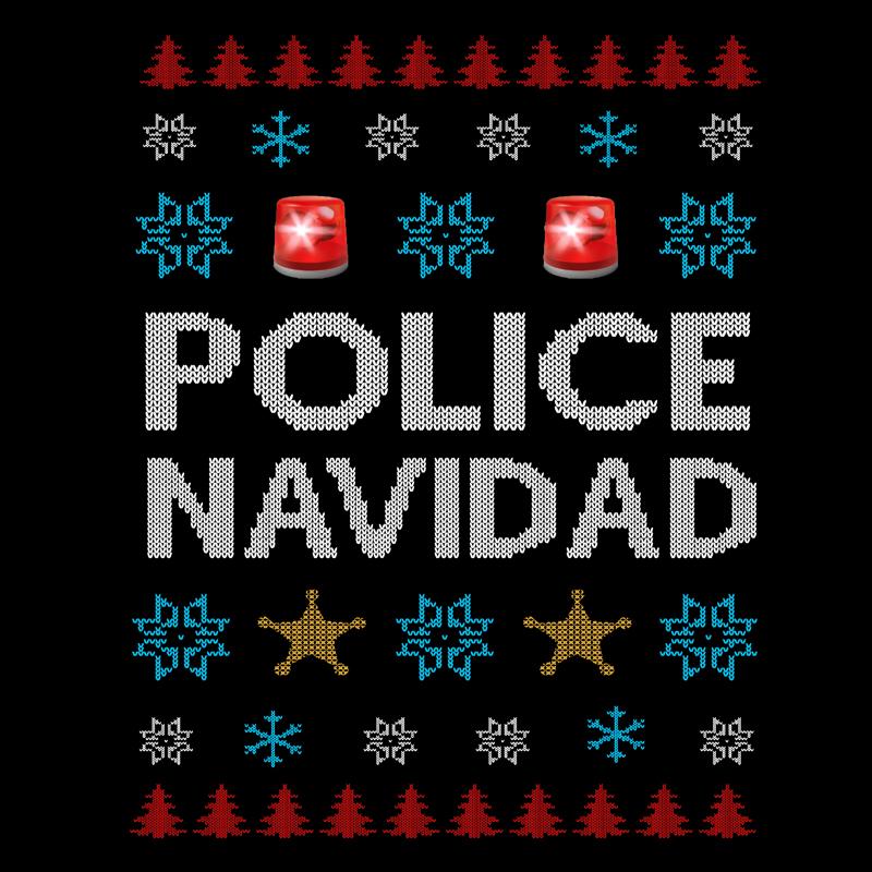 T-Shirt - Christmas Sweater - Police Navidad