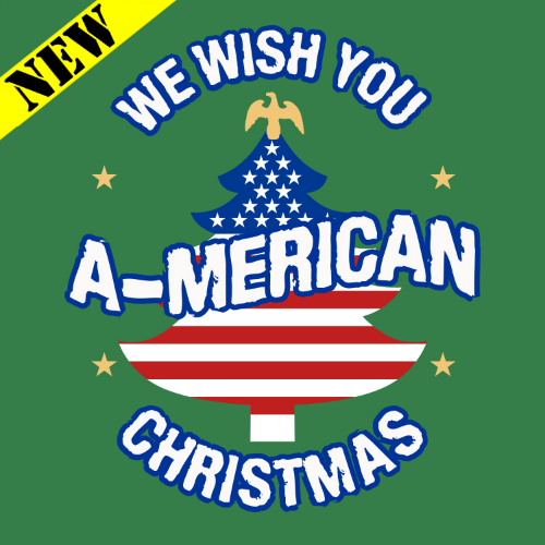 T-Shirt - Christmas Sweater - A-Merican Christmas 20566