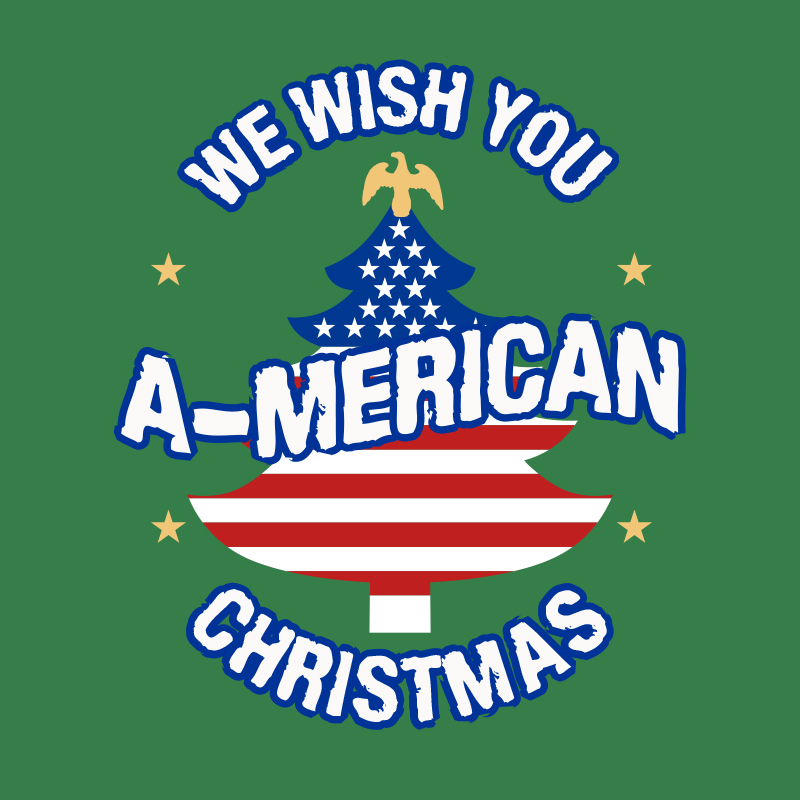 T-Shirt - Christmas Sweater - A-Merican Christmas