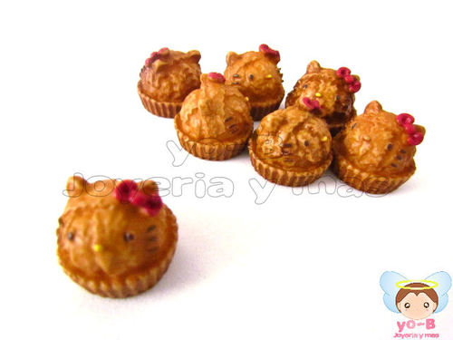 Cupcake chocolate Kitty (PIEZA TIPO RE-MENT)
