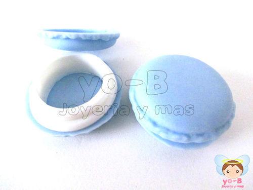 Cajita de silicon macaron AZUL