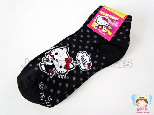 Calcetines Kitty Negros