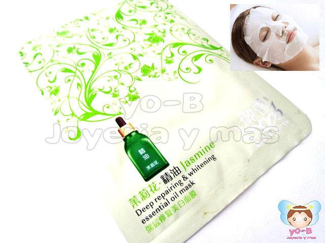 Mascarilla facial de reparacion profunda y aclarante aceites esenciales de JAZMIN