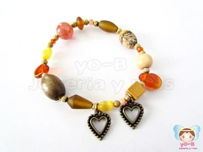 Pulsera resorte DIJES  CORAZON