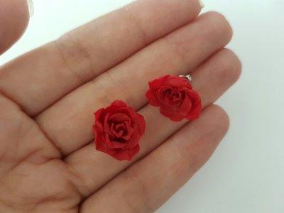 Broqueles rosa Roja