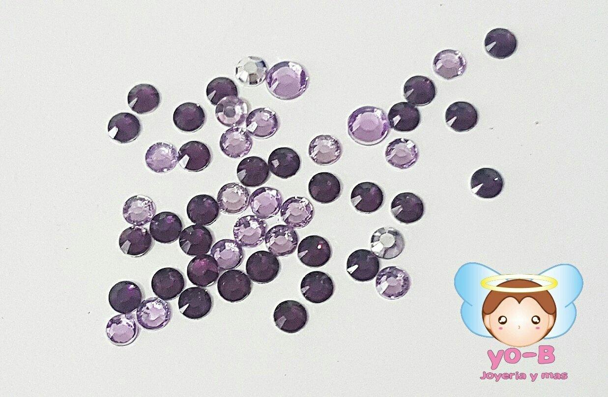 Cristales tono morado/lavanda