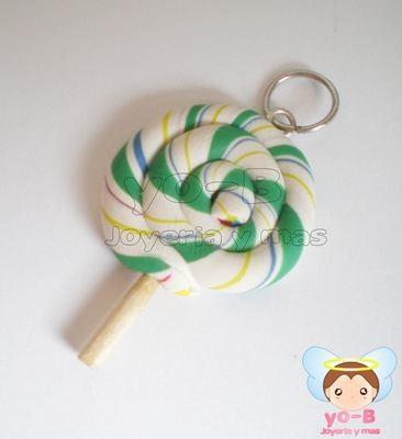 Plug paleta de caramelo mediana verde y blanco