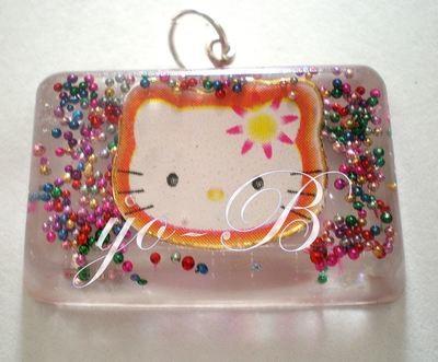 Collar de resina carita Kitty